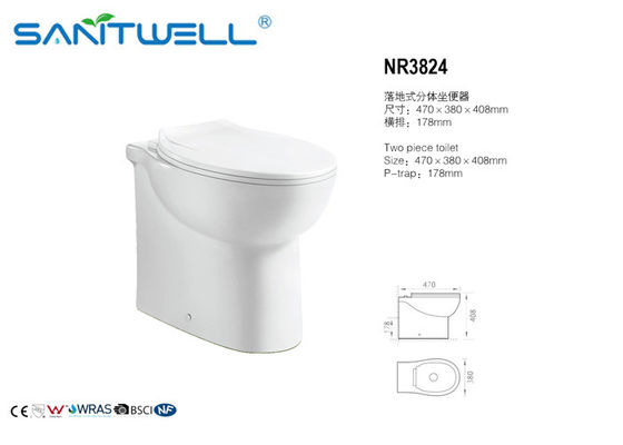China Thin Seat Cover UF Rimless Wall Hung Wc Toilet , Eastern Europe Toilet factory