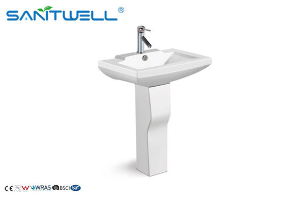 European Design Bathroom Ceramic Wash Basin / Stand Pedestal Art Basin