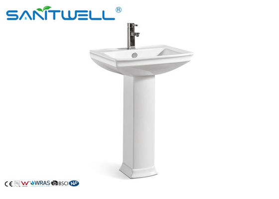 Wash India Sink Bathroom Pedestal Basins , Ceramic Vanity Pedestal Basin