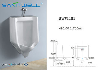 China Water tank Wall Hung Ceramic Urinal With Flushing System 490*315*750 mm factory