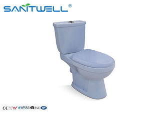 China Square close coupled toilet Universal gravity flush 665*400*835mm Size factory
