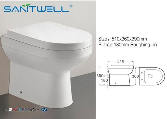 China Round Free Standing Toilet Modern Quick Release Soft Close Seat factory