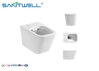 Small Bathroom Wall Outlet Toilet / Wall Hanging Wc Integrated Structure