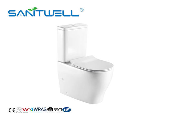 China High Effeciency Water Saving Toilets White Ceramic Floor Standing Two Piece Structure factory