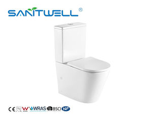 China Two Piece Rimless Close Coupled Toilet For Bathroom With European Style factory