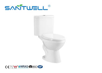China SW2024A Comfortable Close Coupled Toilet With Two Piece Ceramic Siphon Flushing factory