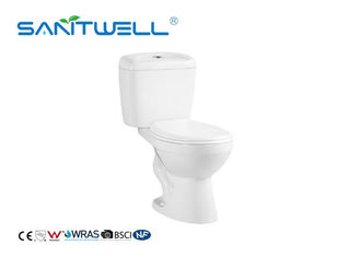 China Two Piece Siphonic Wc Toilet Close Coupled Toilet S Trap CE Certification factory