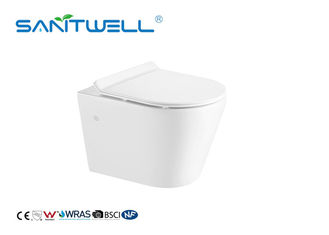 Self Clean Wall Mounted WC Ceramic Material Various Colors 480 * 370 * 360mm
