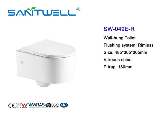Sewage Smooth Wall Mounted WC Single Piece With Rimless Flushing System