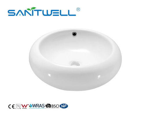 Hand Washing Bathroom Ceramic Basin Face Wash Basin With Solid Surface OEM
