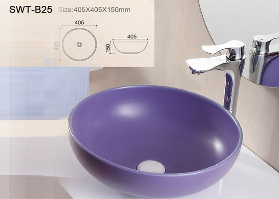 China High Grade Ceramic Art Basin Counter Top Hand Wash Basin 405 * 405 * 150mm factory