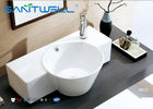 Round Counter Top Wash Basin / Ceramic Vanity Bowl Bathroom Water Absorption<0.5 supplier