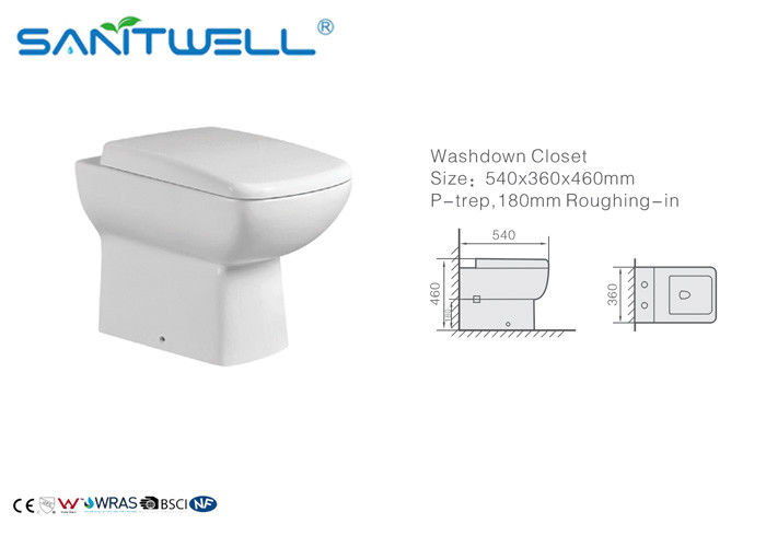 Hotel Bathroom Washdown Bathroom Toilet Commode with Watermark Certification supplier
