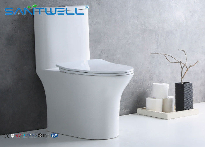 Round s trap siphonic wc one piece fitting watermark toilet SWS08011