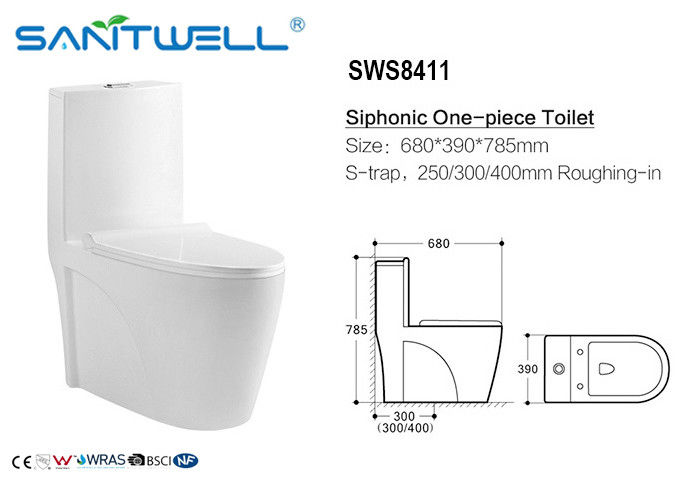 Inodoro wc / siphonic wc Water-absorptivity < 0.2% , Siphonic Action Toilet supplier