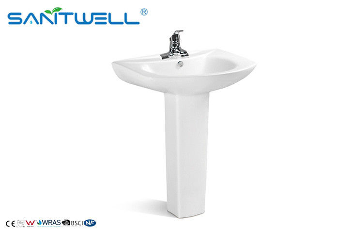 Professional Bathroom Pedestal Basins wash hand sink  650*510*820mm Size supplier