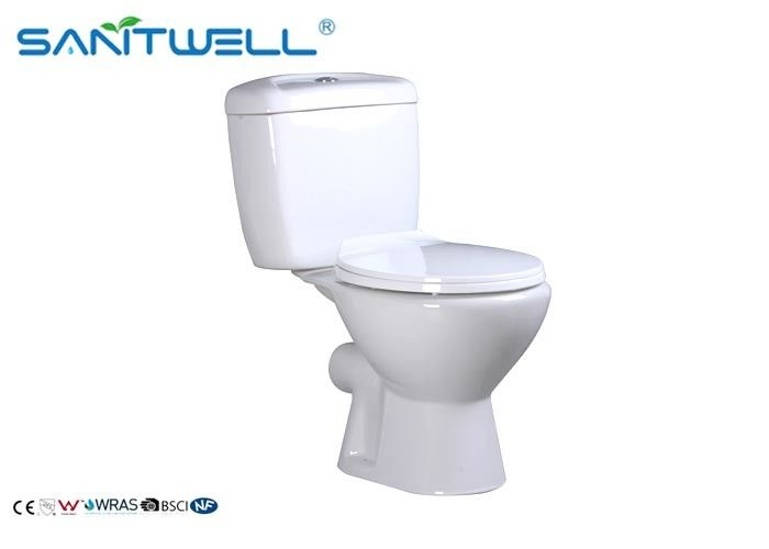 Ceramic Close - Coupled WC Pan Open Back Two Piece White 660*382*758 mm supplier