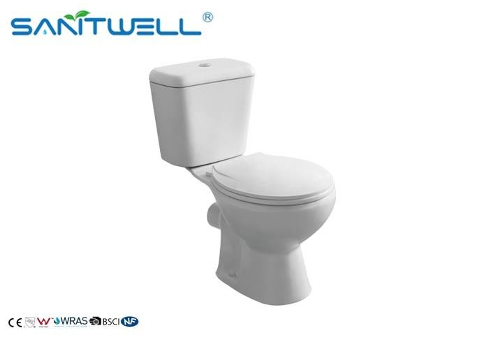 Classic Back to Wall Close Coupled Toilet White 665*375*725 mm supplier