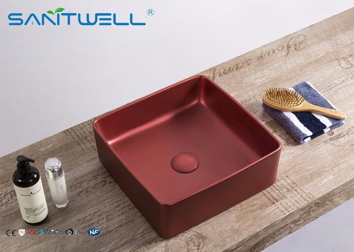 Rectangular Art Basin Sink Virus Resistant 24 Month Warranty With Thin Ceramic Material supplier