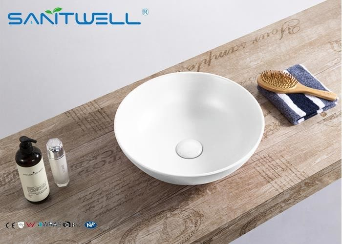 400 * 400 * 155 Mm Art Wash Basin Above Counter Mountings With White Color supplier