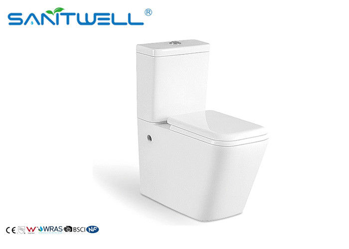 Watermark Two Piece Toilet , Ceramic Floor Mounted Toilet With ODM Logo SWC2421 supplier