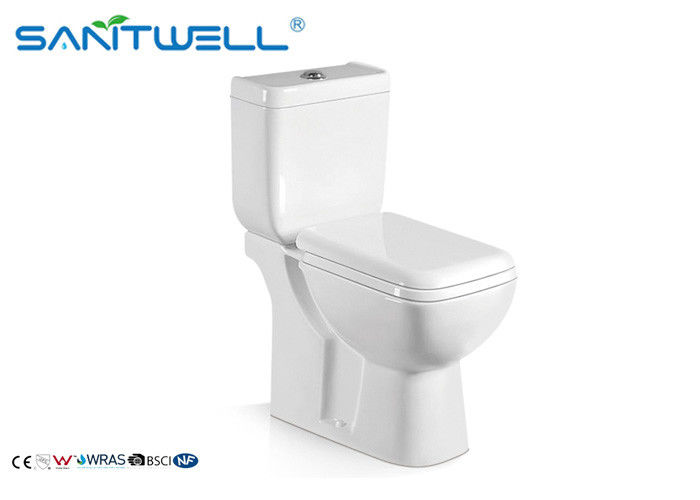 Contemporary Flush Ceramic Toilet Square Design With 5 Years Guarantee supplier