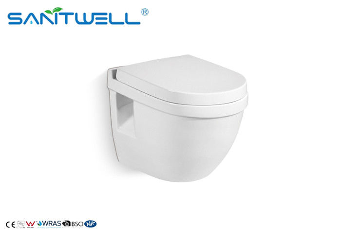 CE Certificate Ceramic Wall Hung Toilet Power Flush P Trap Wc Close Coupled supplier