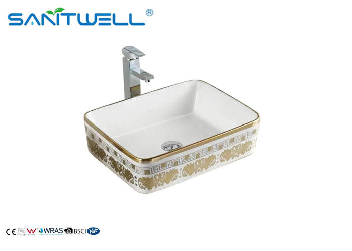 Elegant Wall Mounted Ceramic Art Basin Special Design For Cabinet AB8025H supplier