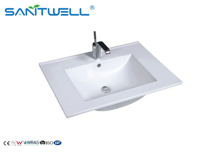 Portable Hand Wash Basin / White Ceramic Counter Top Basin AB8003-60 supplier