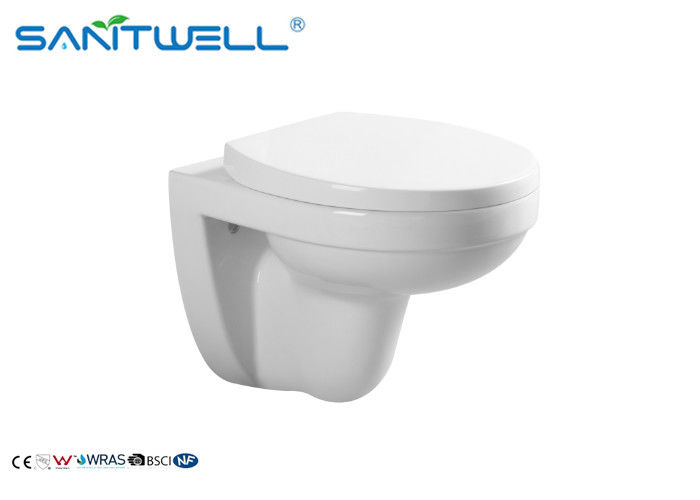 Elongated P Trap Sanitary Wall Mounted WC / Bowl Hanging Toilet 24.5 KGS supplier