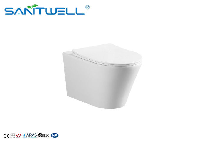 Sanitary Ware Bathroom Wall Hanging Wc / Rimless Wall Hanging Toilet supplier