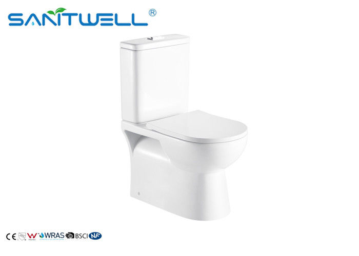 White High Efficiency Ceramic 2 Piece Toilet Water Closet For Bathroom
