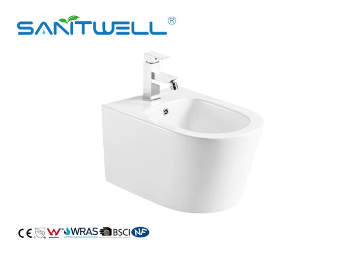 Self Cleaning Comfortable Wall Hung Bidet Concealed Tank Ceramic Material supplier