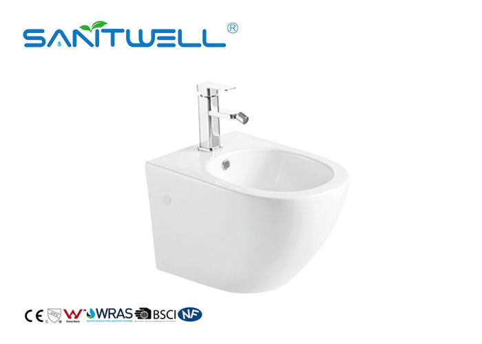 Bathroom Sanitary Ware Wall Hung Bidet Self Cleaning Fashionable Design supplier