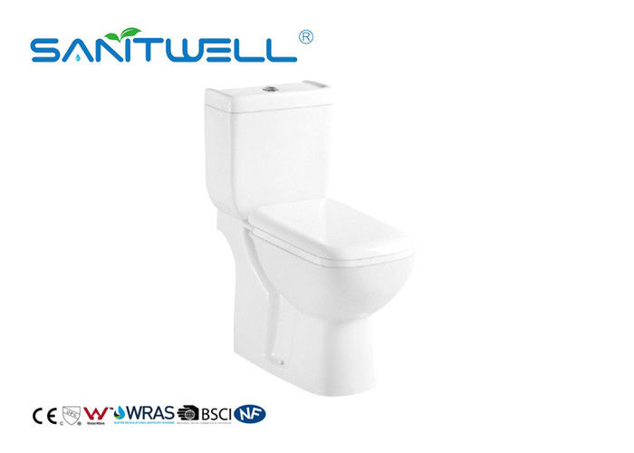 White Color Close Coupled Water Efficient Toilets Ceramic Material 650 * 375 * 820mm supplier