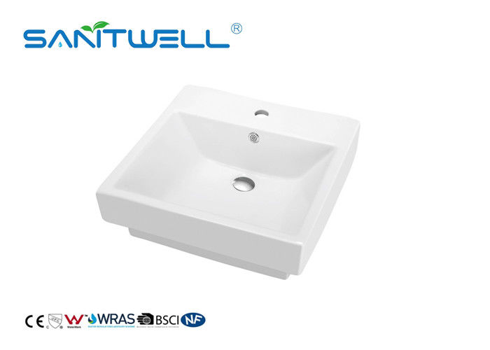 White Color Ceramic Wash Basin Sanitary Ware Basin For Bathroom CE Certification supplier