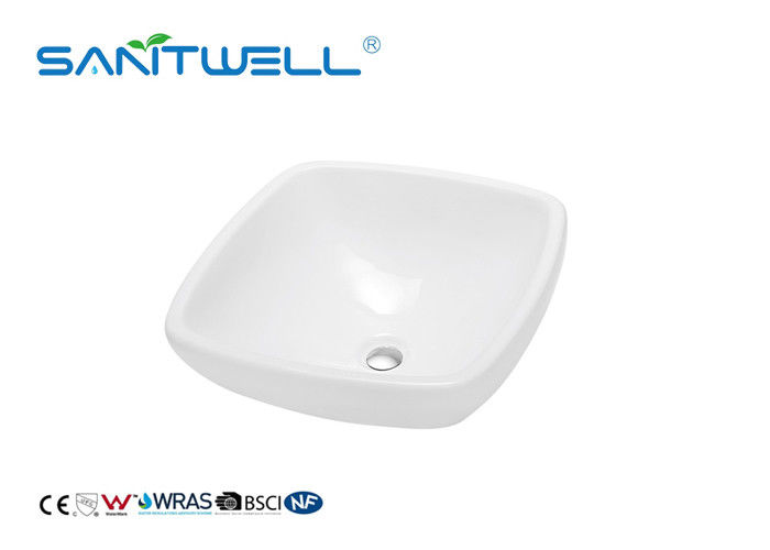 Standard Size Bathroom Sink Basin Ceramic Hand Basin With Solid Surface supplier