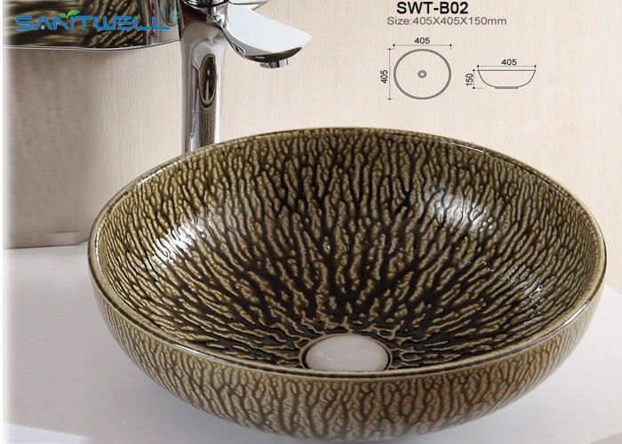 Beautiful Appearance Ceramic Countertop Basin Above Counter Basins With Modern Designs supplier