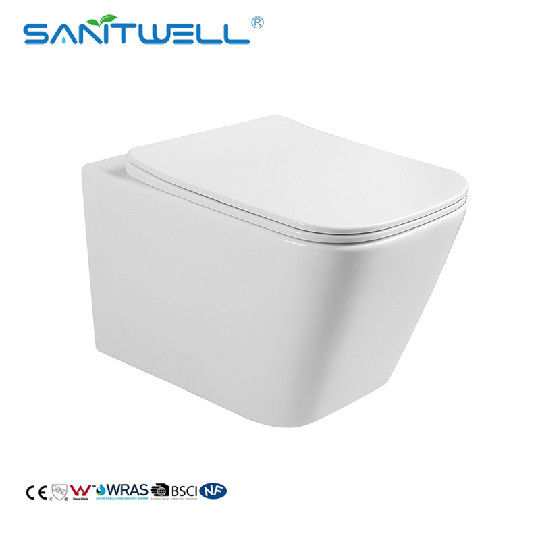 CE Standard European Rimless One Piece Wall Mounted Toilet Wall Hung Toilet In Bathroom