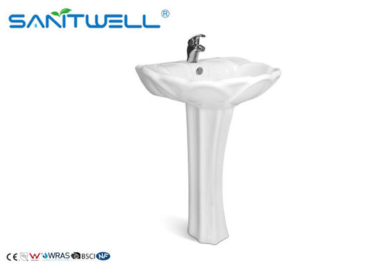 Sanitary Ware free standing wash basin with pedestal ceramic wash bas