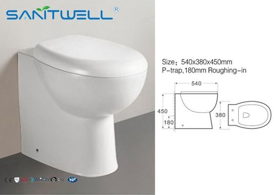 Wall Faced Toilet Living Room Hotel  , Compact Close Coupled WC 540*380*450 mm