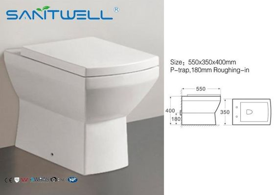 UK Back to Wall WC Pan Ceramic Toilet 550*350*400 mm SWL0622 modle