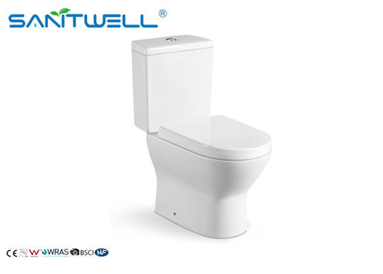 Bathroom Ceramic Toilet With Concealed Horizontal Outlet 700 * 370 * 790 Mm SWC2221