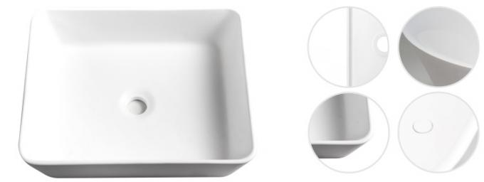 Professional Bathroom Pedestal Basins wash hand sink  650*510*820mm Size