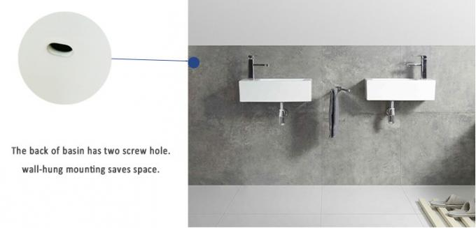 Accessible Washbasin Wall Hung Basin Solid Surface 320*285*130 mm