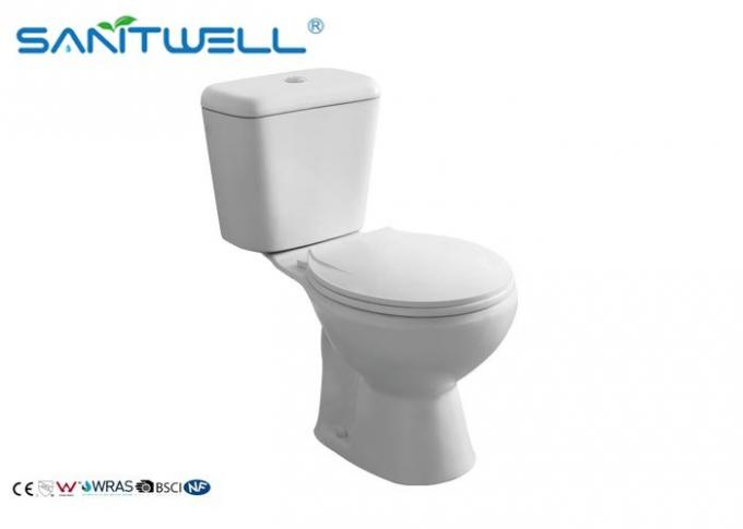 Classic Back to Wall Close Coupled Toilet White 665*375*725 mm