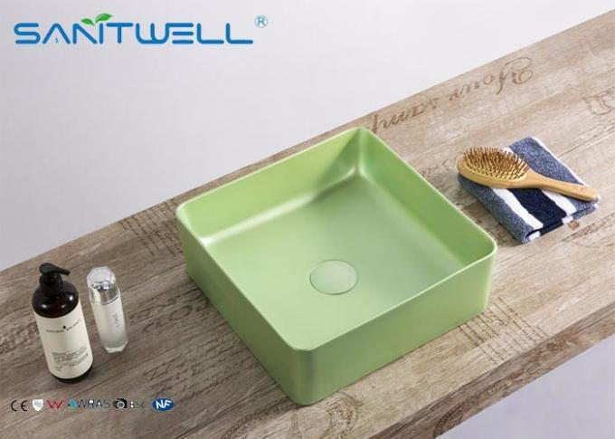 Rectangular Art Basin Sink Virus Resistant 24 Month Warranty With Thin Ceramic Material