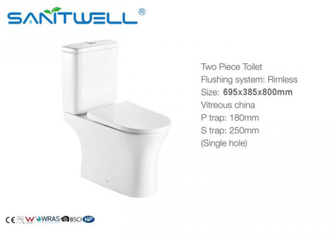 Sanitary Ware Ceramic Wc Toilet Washdown S Trap P Trap Two Piece Floor Standing